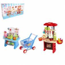 Игровой набор Mini Kitchen - Кухня и магазин (свет, звук)