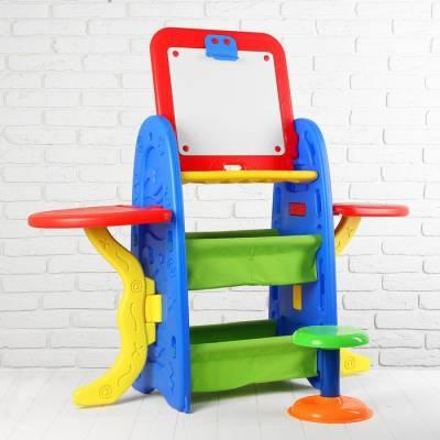 Студия для рисования, большая, в наборе стульчик, губка, маркер, набор цифр и знаков Sima-Land