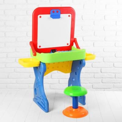 Студия для рисования, в наборе стульчик, губка, маркер, набор цифр и знаков Sima-Land