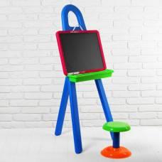 Доска для рисования, в комплекте мольберт, стульчик: 20 см, маркер, набор букв и цифр Sima-Land