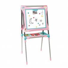 Детский мольберт-трансформер, розовый, 60 предметов Smoby