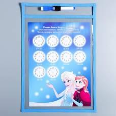 Многоразовая папка с карточками и маркером «Пиши-стирай», Холодное сердце Disney