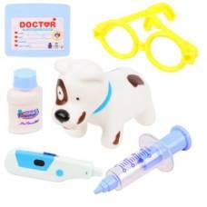 Набор ветеринара (свет), голубой, 6 предметов Наша игрушка