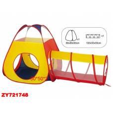 Игровая палатка с туннелем, 88 х 90 см Shantou