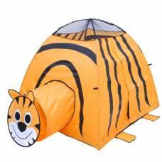 Игровая палатка «Тигр» с туннелем, цвет оранжевый Sima-Land
