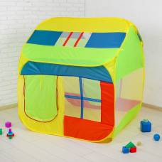 Палатка детская «Домик с окном», зелёный, 140 × 125 × 125 см Sima-Land