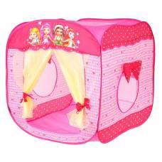 Игровая палатка «Домик с занавесками», цвет розовый Sima-Land