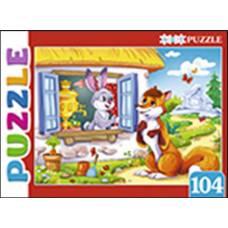 Artpuzzle. Пазлы 104 элемента. ЗАЮШКИНА ИЗБУШКА Рыжий кот