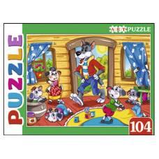 Artpuzzle. Пазлы 104 элемента. Волк и семеро козлят Рыжий кот