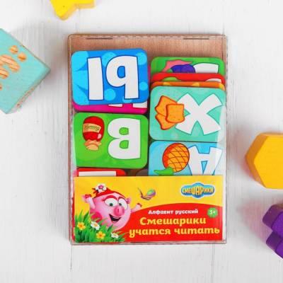 Алфавит русский «Смешарики учатся читать» Мастер игрушек