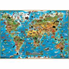 Детская настольная карта мира
