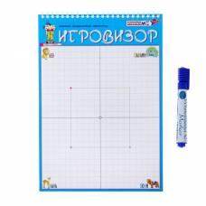 Игровой графический тренажёр «Игровизор» с маркером и приложениями Развивающие игры Воскобовича