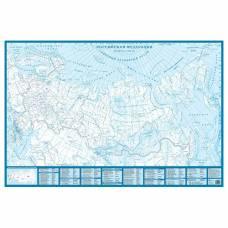 Настенная контурная карта России АГТ Геоцентр