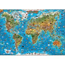 Настенная карта мира для детей АГТ Геоцентр