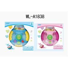 Игрушка для малышей. Руль, со световыми и звуковыми эффектами, 21,5х21,5х6,5 см Junfa Toys