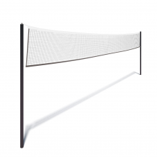 Волейбольная сетка с тросом, черная