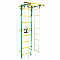 Детский спортивный комплекс «Юный АТЛЕТ Пристенный», цвет зелёный Юный Атлет