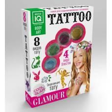 Набор для создания временных татуировок Glamour, 8 видов тату Каррас