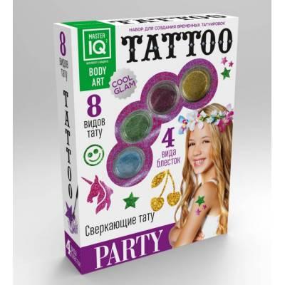 Набор для создания временных татуировок Party, 8 видов тату Каррас