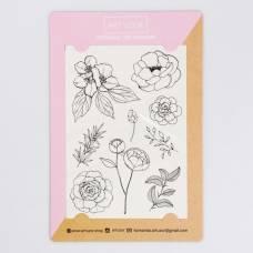 Наклейки‒тату Flowers, 14 × 21 см Арт Узор