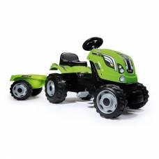 Педальный трактор Farmer XL с прицепом, зеленый Smoby