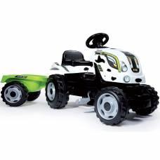 Педальный трактор с прицепом Farmer XL, пятнистый Smoby