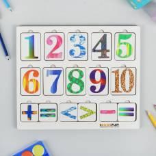 Цифры-пазл (прямоугольные карточки)
