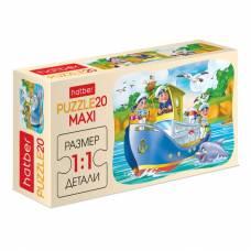 Макси-пазл Cartoon Collection - Кораблик, 20 элементов Hatber