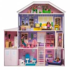 Кукольный домик Фантазия, для кукол до 30 см (19 предметов мебели и интерьера) Paremo