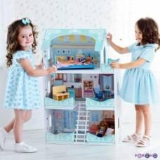 Кукольный домик Вивьен Бэль, для кукол до 30 см (7 предметов мебели и интерьера) Paremo
