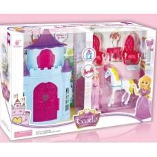 Замок с мебелью Fashion с куклой и лошадкой Zhorya