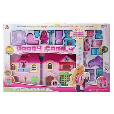 Игровой набор Happy Family - Кукольный дом с мебелью (свет, звук)