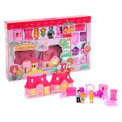 Домик для кукол Ivan's Home с мебелью и куклами Shantou