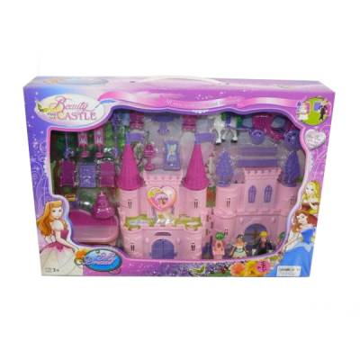 Дом для кукол Beauty Castle с фигурками и аксессуарами (свет, звук)