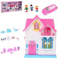 Домик для кукол My Happy Family с мебелью и фигурками (свет, звук)