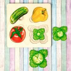 Больше-меньше «Овощи» развивающая доска Сегена Нескучные игры