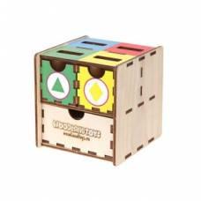 Комодик-куб Фигуры цвет Woodland (Сибирский сувенир)