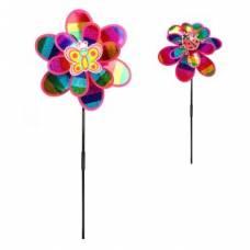 Вертушка на цветочке 50 см, голограмма Наша игрушка