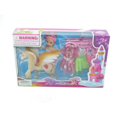 Игровой набор Bettina - Кукла с единорогом и аксессуарами