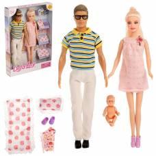 Набор кукол «Дружная семья» с аксессуарами Defa Lucy