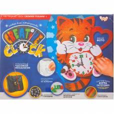 Набор для творчества Creative clock - Котенок, средний Данко Тойс / Danko Toys