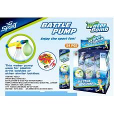 Бомбочки водяные с 2 насадками, водяным насосом и сетчатым мешочком, 50 шт YG Sport