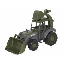 Военный трактор-экскаватор