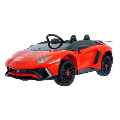 Электромобиль LAMBORGHINI AVENTADOR SV, EVA колеса, цвет красный Sima-Land