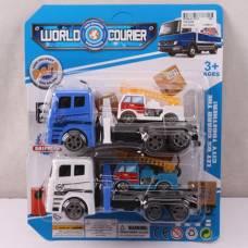 Набор из 2 игрушечных автовозов World Courier