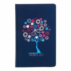 Записная книжка А5, 96 листов линейка «Цветочное дерево», картон 7БЦ, фольга, софт-тач Апплика
