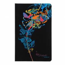 Записная книжка А5, 96 листов линейка «Голубые бабочки», картон 7БЦ, фольга, софт-тач Апплика