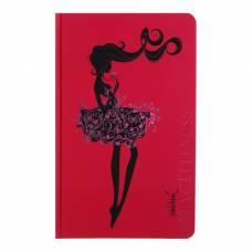 Записная книжка А5, 96 листов линейка «Девушка Грация», картон 7БЦ, фольга, софт-тач Апплика