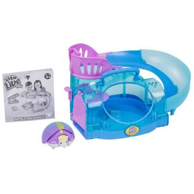 Интерактивная игрушка Little Live Pets - Ежик Shy Sky с домиком, фиолетовый Moose