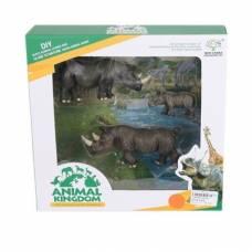 Набор из 3 фигурок Animal Kingdom - Носороги Shantou